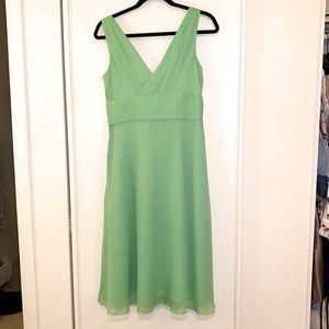 J. Crew 100% silk dress, Green, NWT, Sz 6